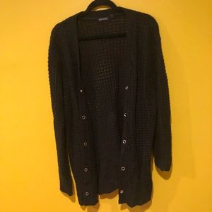 Black Knitter Sweater w Grommet Detail